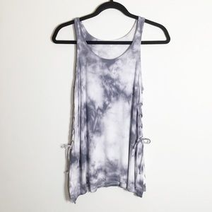 American Eagle Soft and Sexy Ribbed Tie Dye Tank